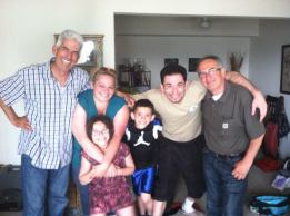 My family in the US, my brother and his kids, my unlcle Manoli!