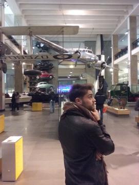 Choosing his airoplane!
